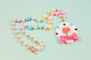 Lolly Pop Cameo Necklace by PeppermintPuff