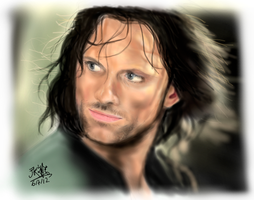 [Repost] iPad finger painting - Aragorn by chaseroflight