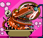 Jurassic Bath by darkchapel666