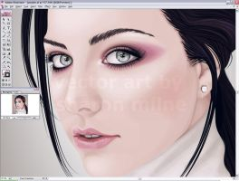 Close Up of Amy Lee by ChewedKandi