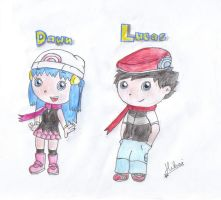 Dawn and Lucas - LE Style by cocoasaurus