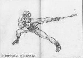 Daily Sketch Challenge - Captain Britain by crittercat