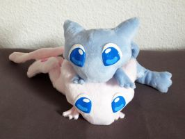 Mew plushies by nfasel
