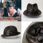 Mickey ONeil leather fedora hat (replica, Snatch) by Svetliy-Sudar