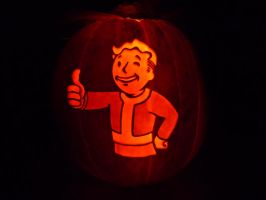 Vault Boy Pumpkin by ceemdee