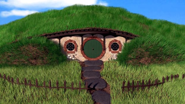 Hobbit house 3D by tholugkhorb