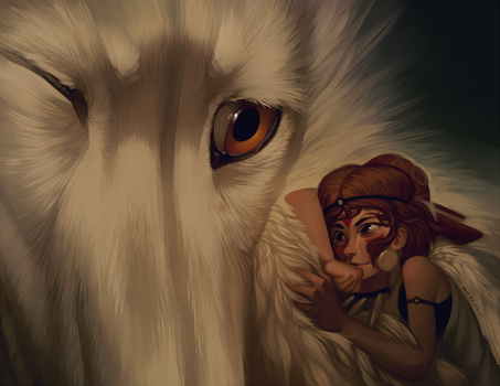 Princess Mononoke by katanimate