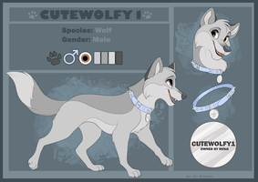 Cutewolfy-Reference commission by Kitchiki
