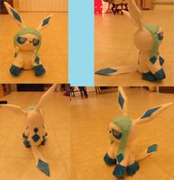 Handmade Glaceon plush by Sammy8D257