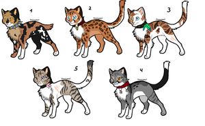 More rogue adoptables (closed) by ChatlapinAdoptables