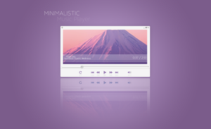 Minimalistic Music Player by Sasori-Designs