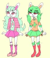 bunny girl adopts by ribless