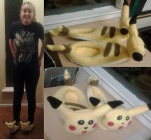 Pikachu Slippers by Sarah-Strazberry