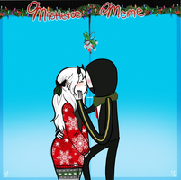 Mistletoe Meme - Grendy and Nox by TheGreatWarrior