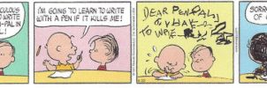 Charlie Brown and Linus - ink covered - in full by dth1971