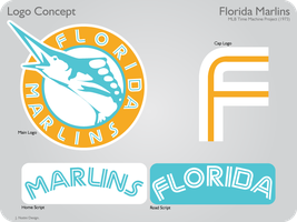 Florida Marlins 1973 Logos by JimmyNutini