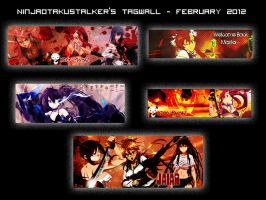 2012 February Tag Wall by Ninjaotakustalker