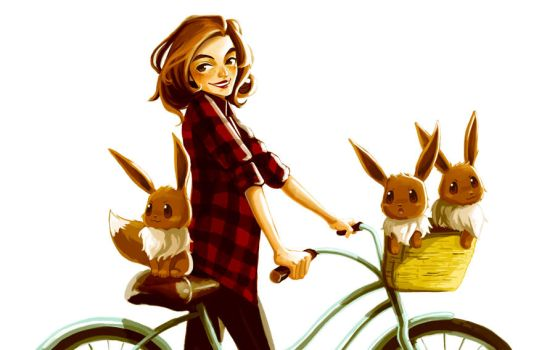 Basket full o' eevees by Virnavus