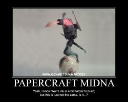 Midna motivational poster by ninjatoespapercraft