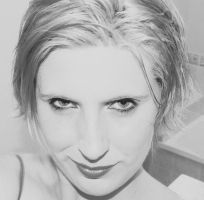 blonde me... black and white v by emyloy