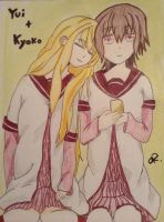 Yui and Kyoko by professor-mooney13