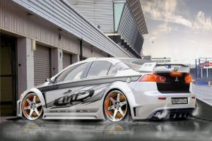 mitsubishi lancer NFS Edition by rookiejeno