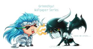 Chibi GrimmUlqui Wallpaper Set by Chewyee