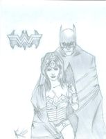 Batman and Wonder Woman by Eosphorus13