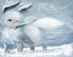 Snowy Eevee by JAYWlNG