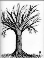 Black Ink Tree by Morgaine-le-Fay