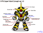 Xyp's Super Robot concept no.1 by XypherZX