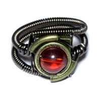 Steampunk Jewelry - Ring - Red by CatherinetteRings