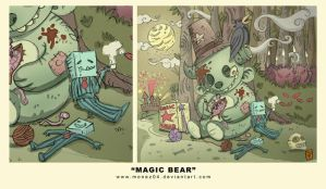 magic bear by monez04
