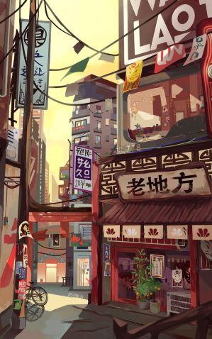 Noodle Shop by renkaz