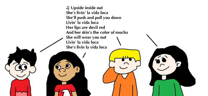 Lilo and the Others Singing Living La Vida Loca by MikeEddyAdmirer89