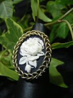 rose cameo ring by BacktoEarthCreations