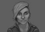 Antje Traue doodle sketch by X-GRiD-X