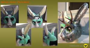 Mryia Head Progress Shots by DandylionsLLC