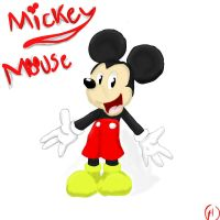 Mickey Mouse .:Color:. by SonicHearts