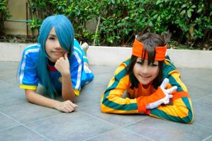 Cosplay - Kazemaru and Endou by minamiya