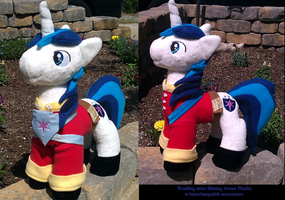Wedding Attire Shining Armor Plushie by Drachefrau