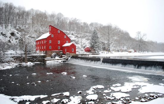 Frosted Clinton Mill by lenavvargo