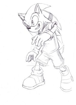 livestream drawing of Sonic by nocturnalMoTH