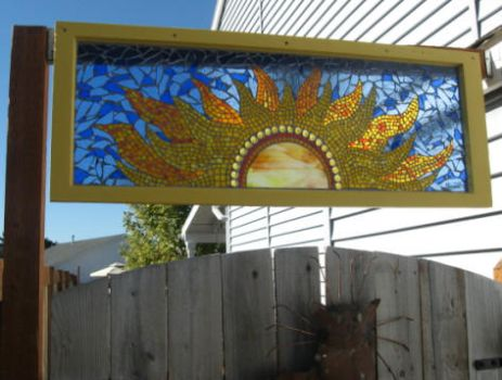 Mosaic Sun Window by reflectionsshattered