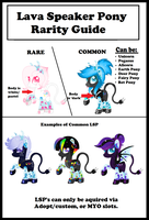Lava Speaker Pony Rarity Guide by mlpdarksparx