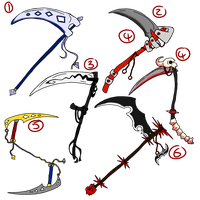name your price Magic/demon Scythe Adopts ALL SOLD by thewhitewolf66