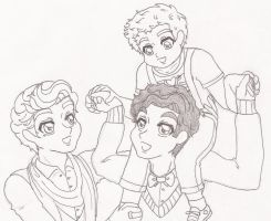 Klaine Papa Carring Rory by HOSHIDESS