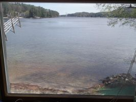View from our cottage in New Hampshire, BEAUTIFUL! by forever-at-peace