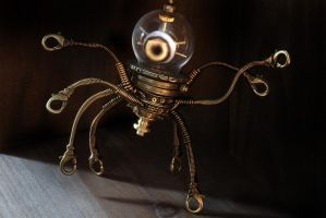Steampunk Alien robot by CatherinetteRings