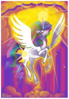 Celestia Raises the Sun by Aspendragon